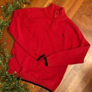 Boys red sweater, size XL.  14-16
